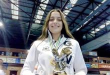 Rita Oliveira no I Torneio de Karaté da Madeira