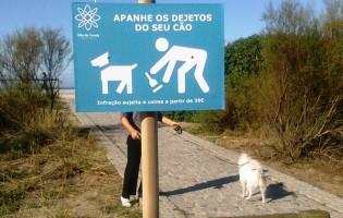 Nova sinalética municipal para sensibilização sobre dejetos de animais