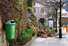 Chuva intensa desaba muro em Vila do Conde