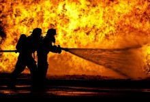 Bombeira de Vila do Conde ferida em incêndio na Trofa