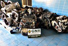 GNR apreende em Vila do Conde mais de 100 motores de veículos furtados