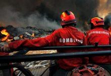 Incêndio perto da estação de metro de Santa Clara de Vila do Conde consome mato