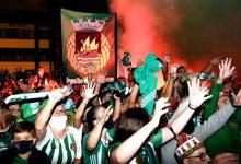 Centenas de adeptos do Rio Ave festejam nos Arcos a qualificação da equipa para Europa