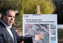 Candidato do PSD Pedro Soares à Câmara de Vila do Conde apresenta nova ponte sobre o rio Este