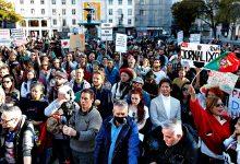 Vilacondense entre os manifestantes contra a gestão da pandemia de Covid-19 em Lisboa